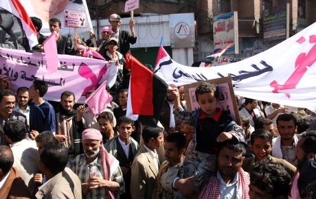 Nya protester i jemen 1